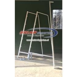 Arcos de Futbolito Desarmable Empotrado - Futbol 7 - Transportable - Movible