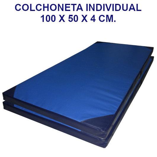 Colchoneta de ejercicio individual densidad 60 tela cobernil - Medidas 100 x 50 x 4 cm.