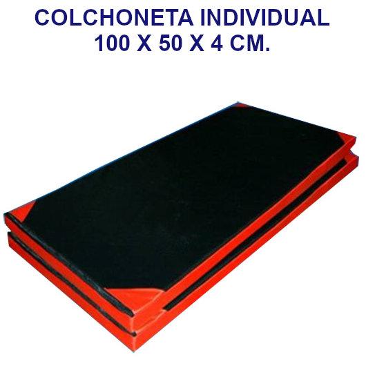 Colchoneta de ejercicio individual densidad 80 tela oxford - Medidas: 100 x 50 x 4 cm.