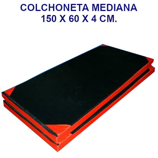 Colchoneta de ejercicio 150x60x4cm. densidad 60 tela oxford