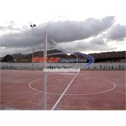 """Parante o poste de Voleibol oficial reglametnario fijo o de poner y sacar en 3"""" x 3 mm."""