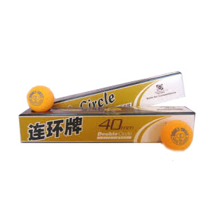 Pelota de Ping Pong Doble Circulo Naranja
