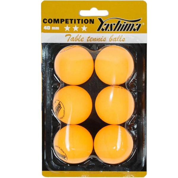 Pelota de Ping Pong Yashima 3* Naranja
