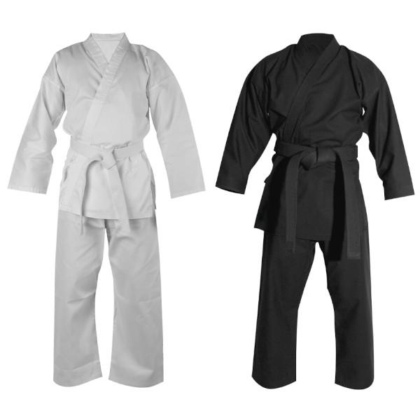 Uniforme de Karate Okami TWILL - Blanco - Negro