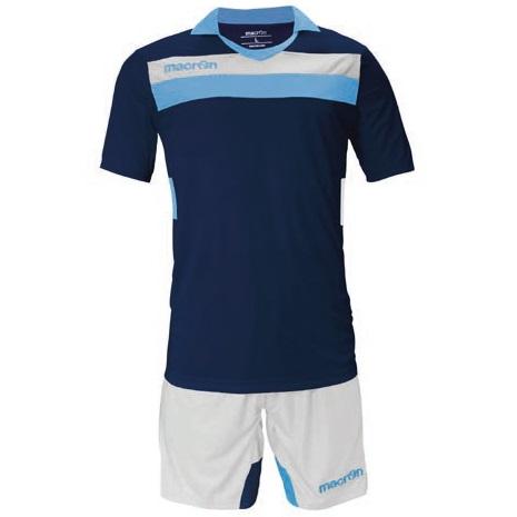 Equipo de Futbol Macron Genova Azul Marino - Blanco - Celeste