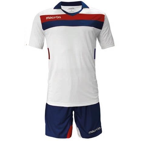 Equipo de Futbol Macron Genova Blanco - Rojo - Azul Marino