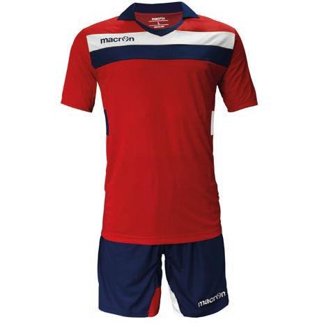 Equipo de Futbol Macron Genova Rojo - Blanco - Azul Marino