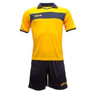 Equipo - Uniforme de Futbol Mitre London Amarillo/Azul Marino