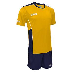 Equipo - Uniforme de Futbol Mitre Oxford Amarillo/Azul Marino
