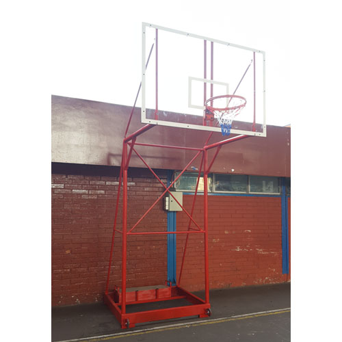 Arco torre de basquetbol basketball oficial transportable for Piso acrilico transparente