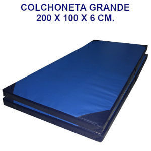 Colchoneta de ejercicio 200x100x6cm. densidad 80 cobertura 10000