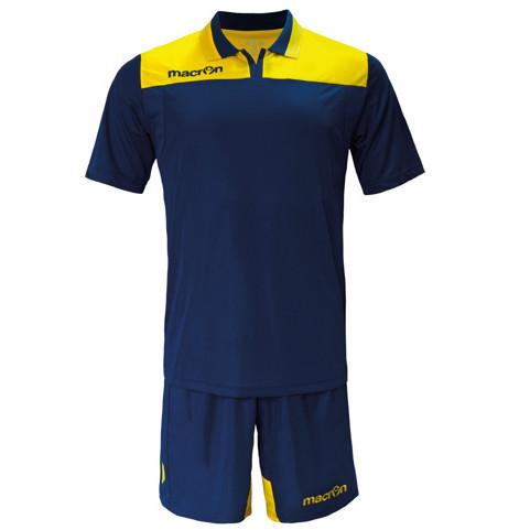 Equipo de Futbol Macron Roma Azul Marino - Amarillo