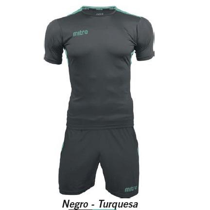 Equipo de Futbol Mitre Manchester Negro - Turquesa