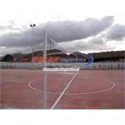 """Parante o poste de Voleibol fijo o de poner y sacar en 3"""" x 3 mm."""