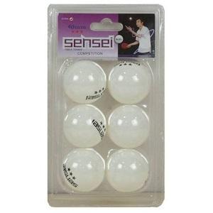 Pelota de Ping Pong Sensei 3* Blanca 40+