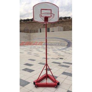 "Arco - Torre de Basquetbol Juvenil con ruedas - Tubo de 1 1/2"" x 2 mm."