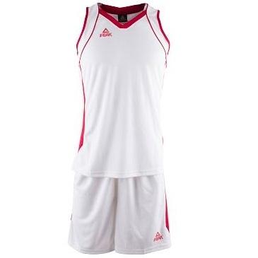 Kit - Set de Basquetbol Peak Mujer Blanco - Rojo