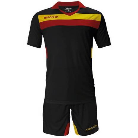 Equipo de Futbol Macron Genova Negro - Amarillo- Rojo