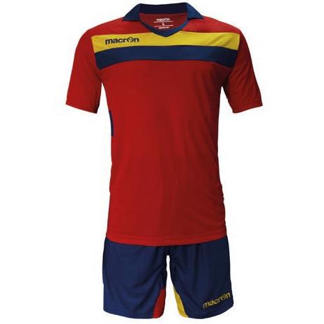 Equipo de Futbol Macron Genova Rojo - Azul Marino - Amarillo