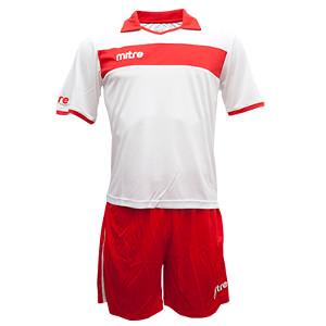 Equipo - Uniforme de Futbol Mitre London Blanco/Rojo