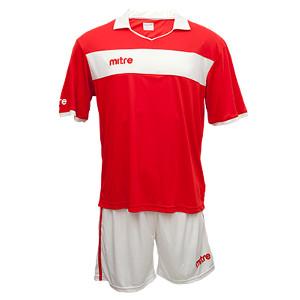 Equipo - Uniforme de Futbol Mitre London Rojo/Blanco