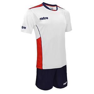 Equipo - Uniforme de Futbol Mitre Oxford Blanco/Azul Marino